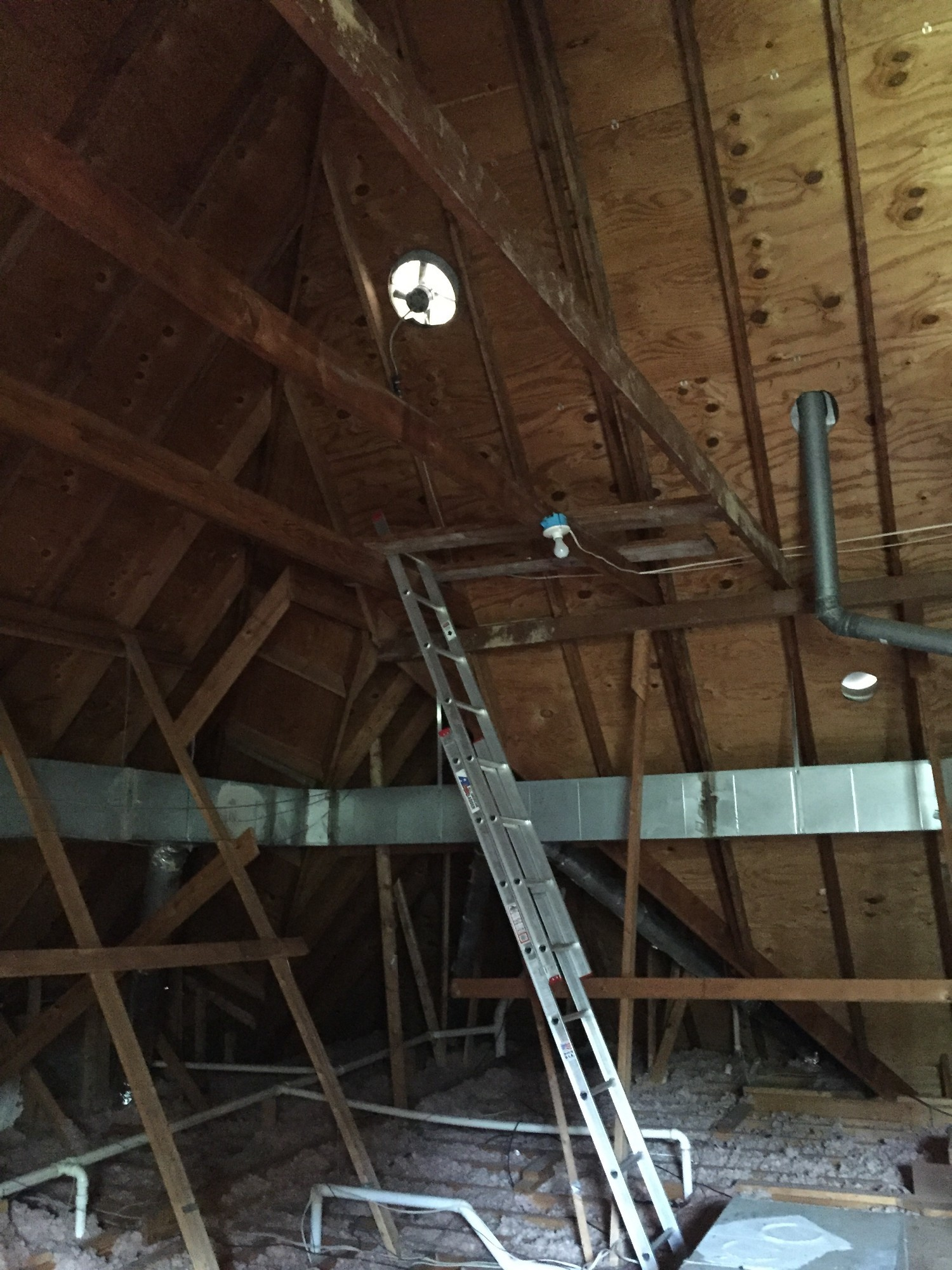 Attic fan motor change