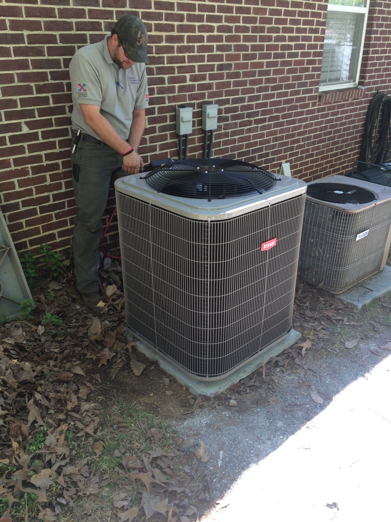 Installing a new Bryant Heat Pump in Hoover