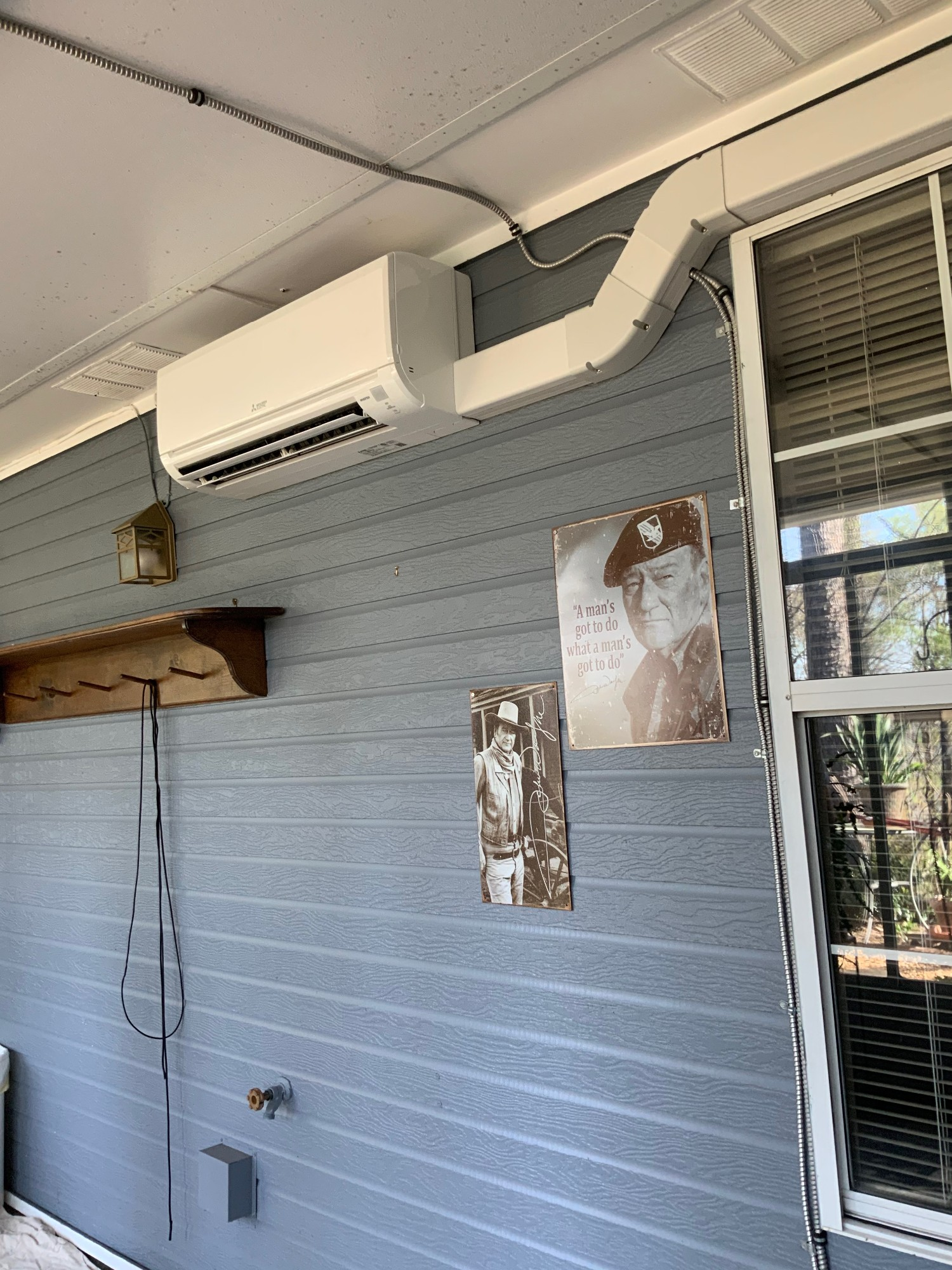 Wall-mounted Mitsubishi Ductless Mini Split
