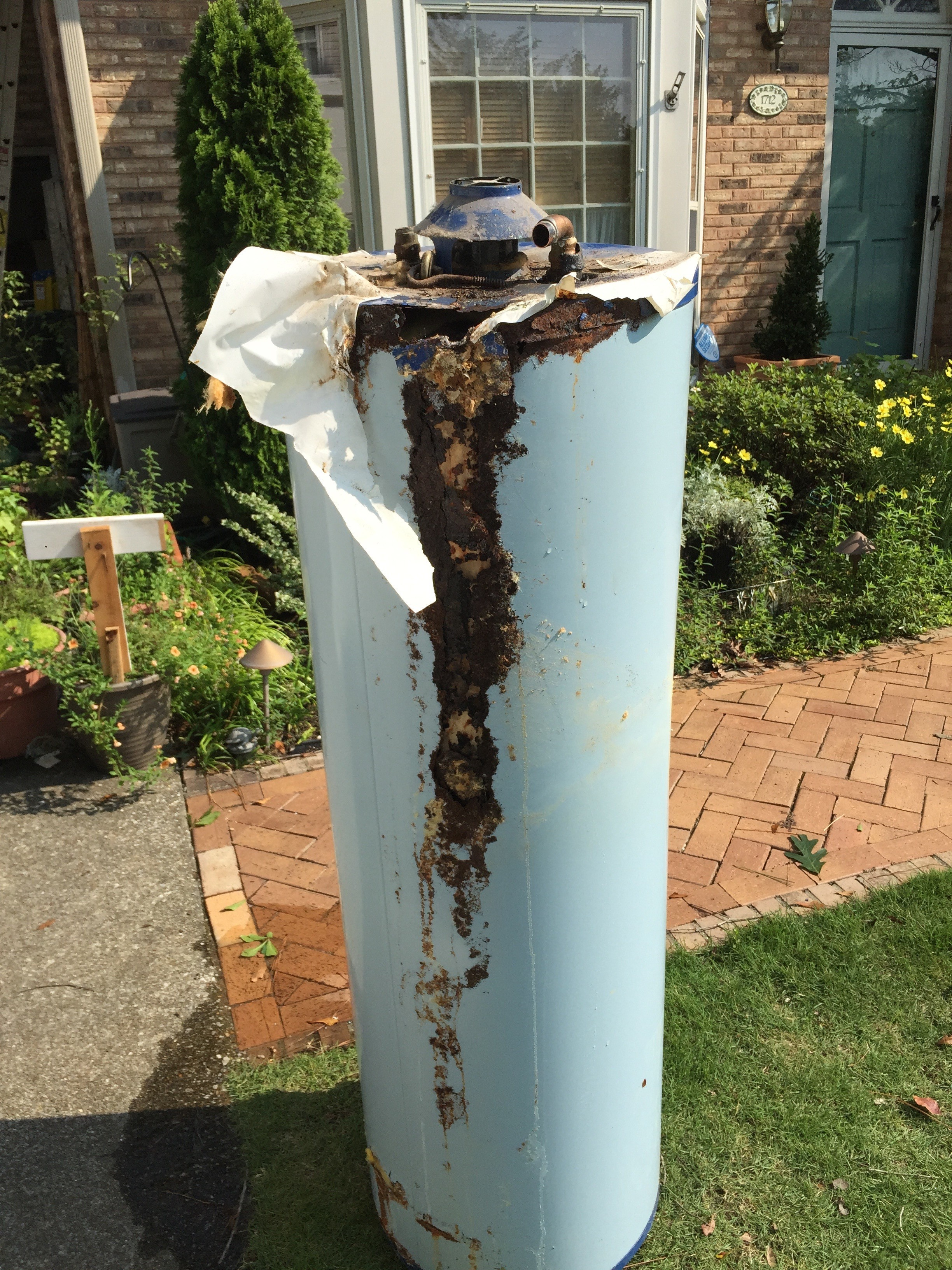 Do you think this water heater is leaking?