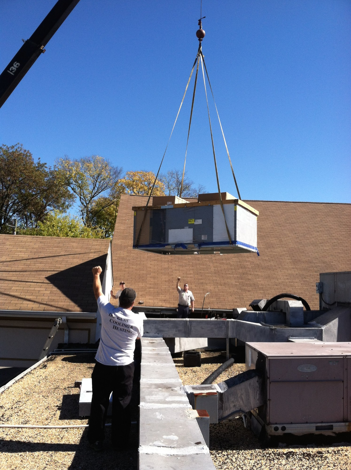 Douglas Cooling and Heating Commercial Rooftop HVAC Installation