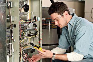 Technician-Testing-Furnace